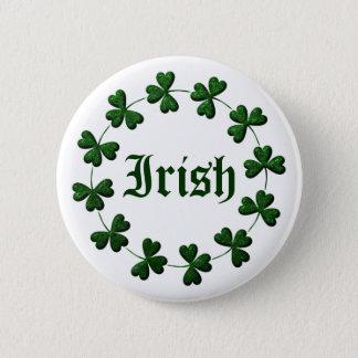 Badge Rond 5 Cm Bouton irlandais d'anneau de shamrock