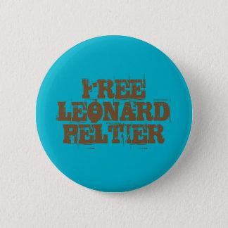 Badge Rond 5 Cm Bouton libre de Leonard Peltier