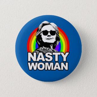 Badge Rond 5 Cm Bouton méchant de femme de Hillary Clinton