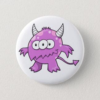 Badge Rond 5 Cm Bouton mignon d'alien de monstre