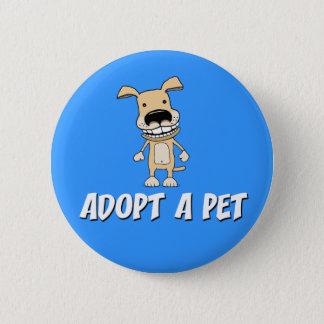 Badge Rond 5 Cm Bouton mignon de chien : Adoptez un animal