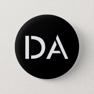 Badge Rond 5 Cm Bouton noir classique du DA