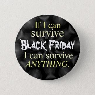 Badge Rond 5 Cm Bouton noir de vendredi