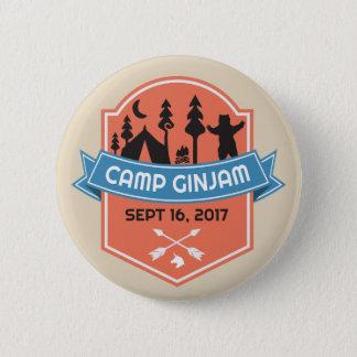 Badge Rond 5 Cm Bouton officiel de butin de GinJam de camp