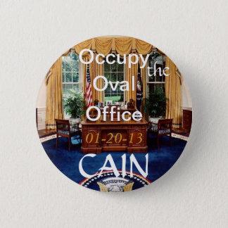 Badge Rond 5 Cm Bouton ovale de bureau d'O-O-O Caïn
