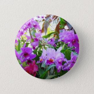 Badge Rond 5 Cm Bouton pourpre de Pin de fleur de lis