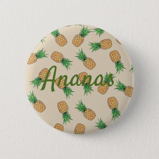 Badge Rond 5 Cm Bouton rond Ananas