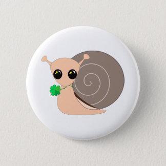 Badge Rond 5 Cm Bouton rond - escargot chanceux