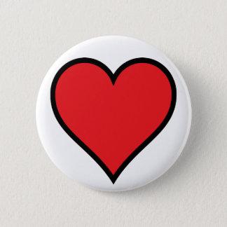 Badge Rond 5 Cm Bouton rouge de coeur de CMYK