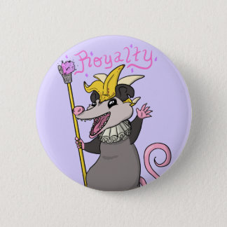 Badge Rond 5 Cm Bouton royal d'opossum