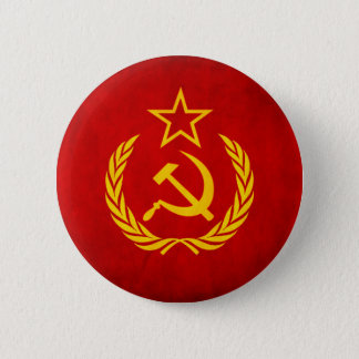 Badge Rond 5 Cm Bouton soviétique de drapeau
