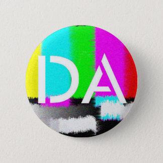 Badge Rond 5 Cm Bouton statique blanc du DA