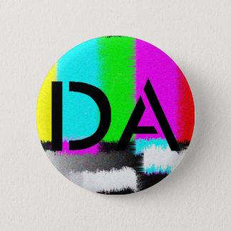 Badge Rond 5 Cm Bouton statique noir du DA