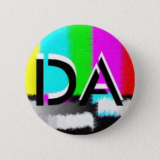 Badge Rond 5 Cm Bouton statique noir et blanc du DA