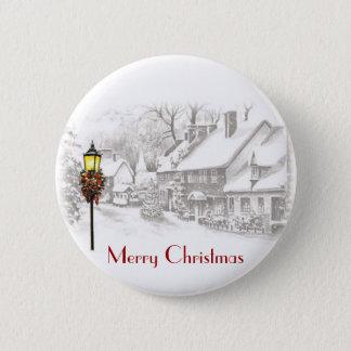 Badge Rond 5 Cm Bouton vintage de ChristmasTown