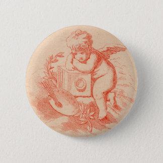 Badge Rond 5 Cm Bouton vintage de cupidon d'ange de victorian