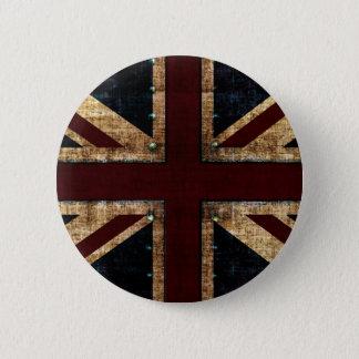 Badge Rond 5 Cm bouton vintage d'Union Jack de conception