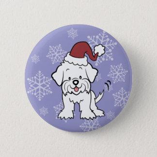 Badge Rond 5 Cm Boutons de chien maltais