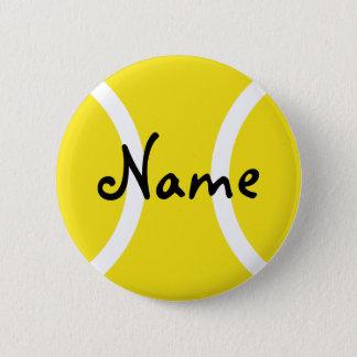 Badge Rond 5 Cm Boutons de tennis avec le nom personnalisable