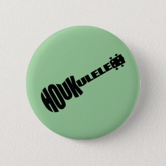 Badge Rond 5 Cm Boutons - logo de Houkulele - rond vert