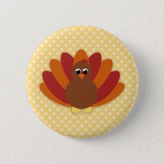Badge Rond 5 Cm Boutons mignons de la Turquie de thanksgiving de