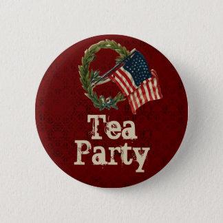 Badge Rond 5 Cm Boutons vintages de thé de drapeau américain