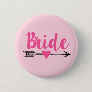 Badge Rond 5 Cm Bride Team Bride Pink