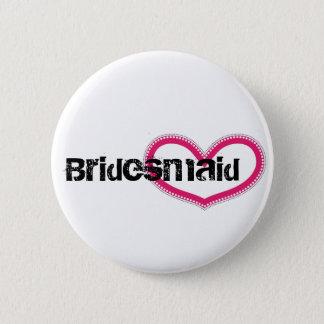 Badge Rond 5 Cm Bridemaid - customisé