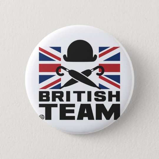 BADGE ROND 5 CM BRITISH TEAM 2