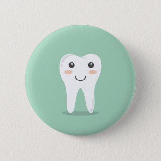 Badge Rond 5 Cm Brosse à dents de brossage de dent de dentiste