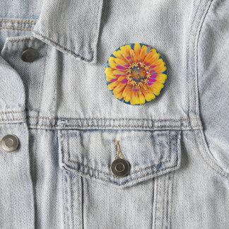 Badge Rond 5 Cm Bruit de fleur d'été