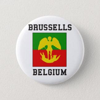 Badge Rond 5 Cm Bruxelles Belgique