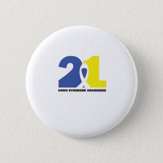 Badge Rond 5 Cm Cadeau de combat de CONSCIENCE de SYNDROME DE DOWN
