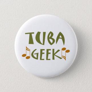 Badge Rond 5 Cm Cadeau drôle de geek de tuba