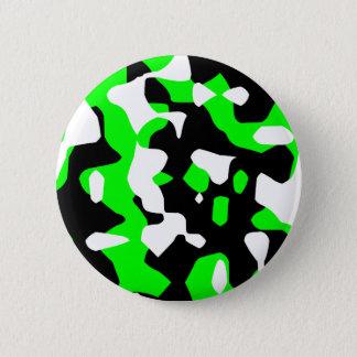 Badge Rond 5 Cm Camouflage vert du tigre 80s de Corey rétro (Camo)
