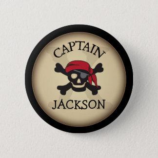 Badge Rond 5 Cm Capitaine personnalisé par partie Button de pirate