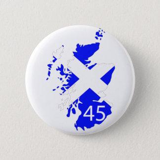Badge Rond 5 Cm Carte de l'Ecosse Saltire