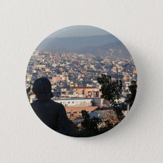 Badge Rond 5 Cm Carte postale de Barcelone