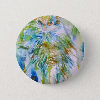 Badge Rond 5 Cm CAT .2 d'aquarelle