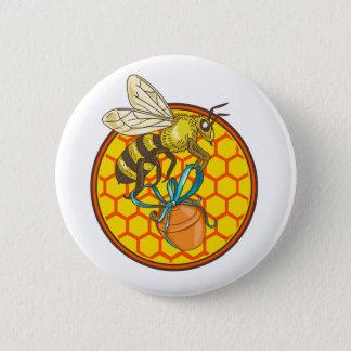 Badge Rond 5 Cm Cercle de transport de ruche de pot de miel de