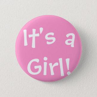 Badge Rond 5 Cm C'est une fille !