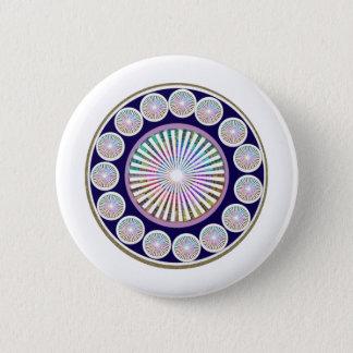 Badge Rond 5 Cm CHAKRA multiples - Mandala vivant de l'étincelle n