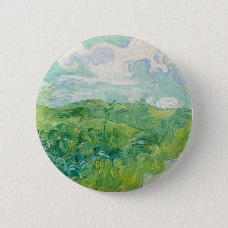 Badge Rond 5 Cm champs de blé verts de Van Gogh