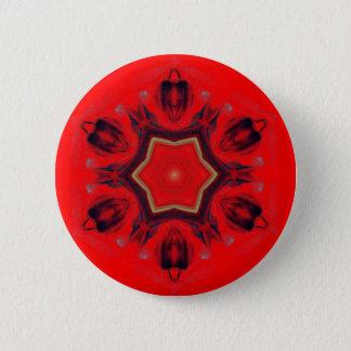 Badge Rond 5 Cm Chant religieux rouge de médiation d'art de