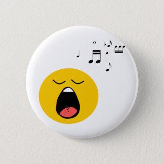 Badge Rond 5 Cm Chanteur souriant