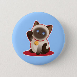 Badge Rond 5 Cm Chat chanceux
