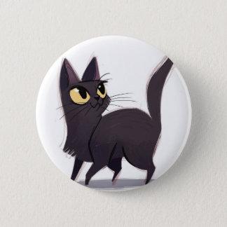 Badge Rond 5 Cm Chat curieux