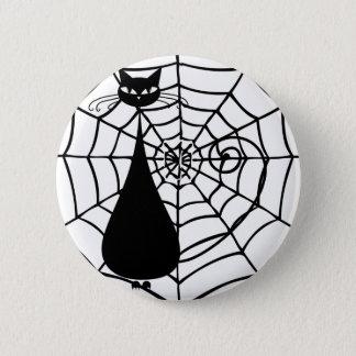 Badge Rond 5 Cm Chat noir drôle original félin