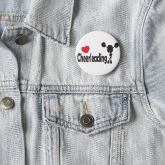 Badge Rond 5 Cm Cheerleading d'amour