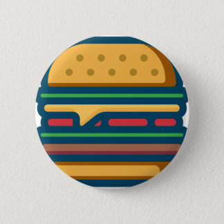Badge Rond 5 Cm Cheeseburger de Charbroiled